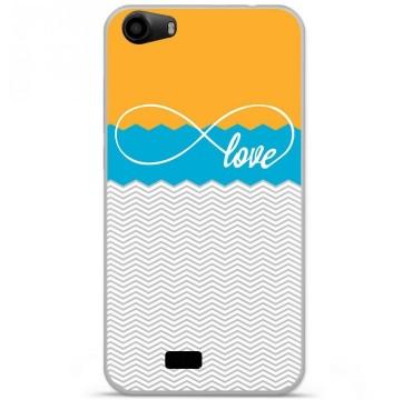 Coque en silicone pour Wiko Lenny 2 - Love Orange