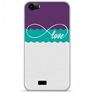 Coque en silicone pour Wiko Lenny 2 - Love Violet