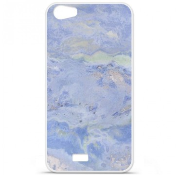 Coque en silicone pour Wiko Lenny 2 - Marbre Bleu