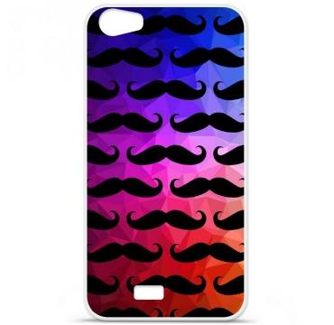 Coque en silicone pour Wiko Lenny 2 - Moustache