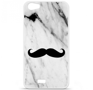 Coque en silicone Wiko Lenny 2 - Hipster Moustache