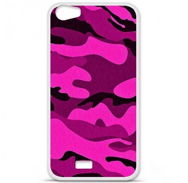 Coque en silicone Wiko Lenny 2 - Camouflage rose
