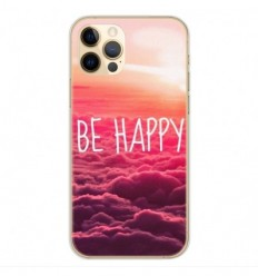 Coque en silicone Apple iPhone 12 Pro - Be Happy nuage
