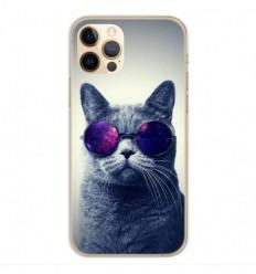 Coque en silicone Apple iPhone 12 Pro - Chat à lunette