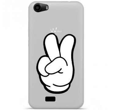 Coque en silicone pour Wiko Lenny 2 - Swag Hand Blanc