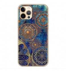 Coque en silicone Apple iPhone 12 Pro - Mandalla bleu