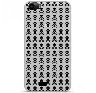 Coque en silicone pour Wiko Lenny 2 - Skull Noir