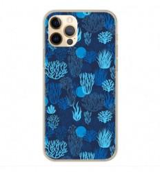 Coque en silicone Apple iPhone 12 Pro - Corail bleu