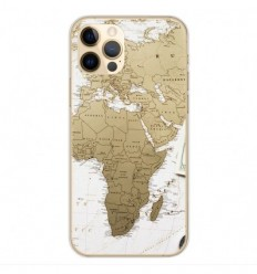 Coque en silicone Apple iPhone 12 Pro - Map Europe Afrique