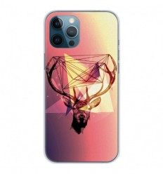 Coque en silicone Apple iPhone 12 Pro Max - Cerf Hipster