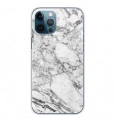 Coque en silicone Apple iPhone 12 Pro Max - Marbre Blanc