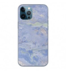 Coque en silicone Apple iPhone 12 Pro Max - Marbre Bleu