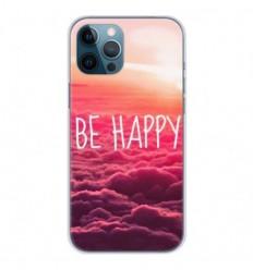 Coque en silicone Apple iPhone 12 Pro Max - Be Happy nuage