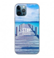 Coque en silicone Apple iPhone 12 Pro Max - Stay positive