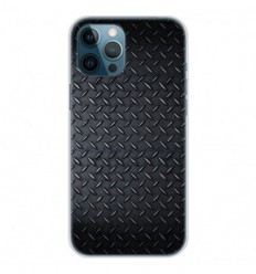 Coque en silicone Apple iPhone 12 Pro Max - Texture metal