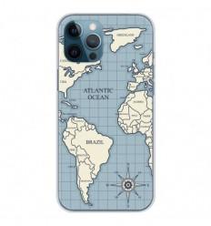 Coque en silicone Apple iPhone 12 Pro Max - Map vintage