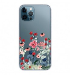 Coque en silicone Apple iPhone 12 Pro Max - Printemps en fleurs