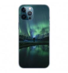 Coque en silicone Apple iPhone 12 Pro Max - Aurores Boréales