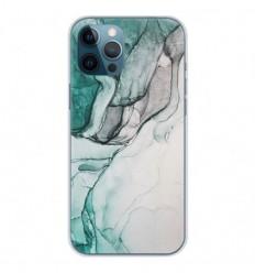 Coque en silicone Apple iPhone 12 Pro Max - Zoom sur Pierre Vert
