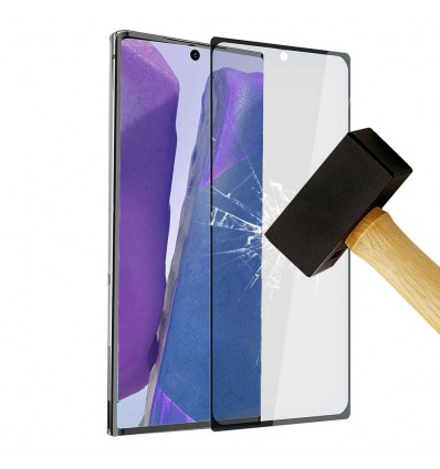 Film verre trempé 4D - Samsung Galaxy Note 20 Ultra Noir protection écran