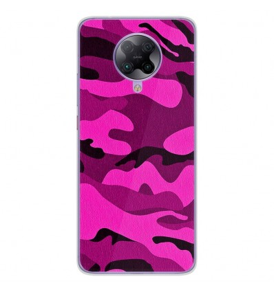 Coque en silicone Oppo Poco F2 Pro - Camouflage rose