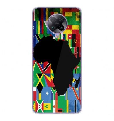 Coque en silicone Oppo Poco F2 Pro - Drapeau Afrique
