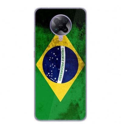 Coque en silicone Oppo Poco F2 Pro - Drapeau Brésil