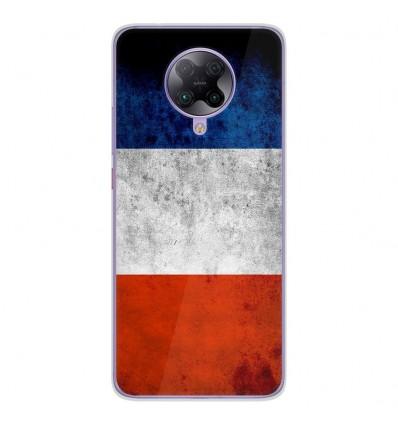 Coque en silicone Oppo Poco F2 Pro - Drapeau France