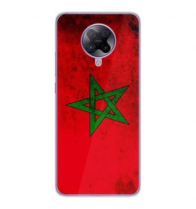 Coque en silicone Oppo Poco F2 Pro - Drapeau Maroc