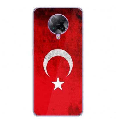 Coque en silicone Oppo Poco F2 Pro - Drapeau Turquie