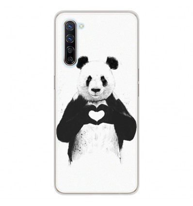 Coque en silicone Oppo Find X2 Lite - BS Love Panda