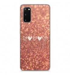 Coque en silicone Samsung Galaxy S20 FE - Paillettes coeur