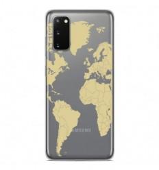 Coque en silicone Samsung Galaxy S20 FE - Map beige