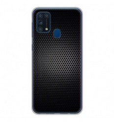 Coque en silicone Samsung Galaxy M31 - Dark Metal