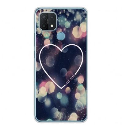 Coque en silicone Oppo A15 - Coeur Love