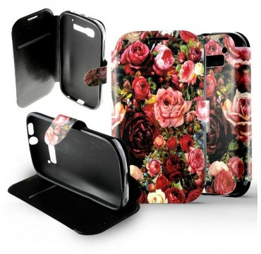 Etui Alcatel One Touch Pop C5 Folio Bouquet de roses