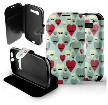 Etui Alcatel One Touch Pop C5 Folio Hipster Heart