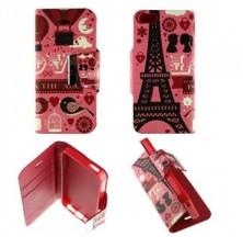 Etui iPhone 5 / 5S Folio Pink Paris