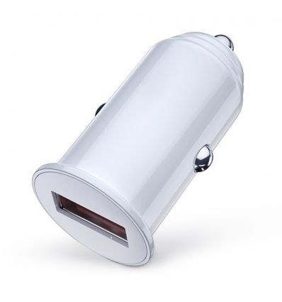 Chargeur allume cigare USB 1A CU400 - Blanc