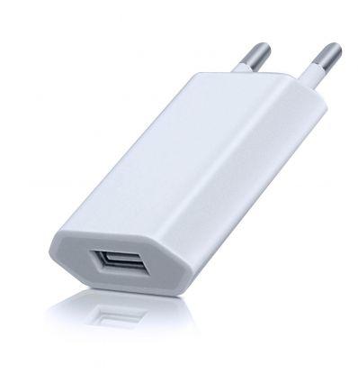 Chargeur secteur port USB CU203 1A - Blanc