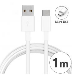 Câble Micro USB AS100 2A - Blanc
