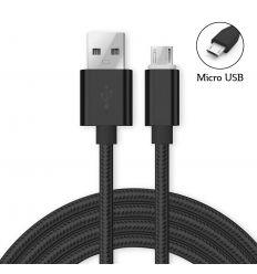 Câble Micro USB nylon AS113 - Noir
