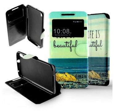 Etui pour HTC Desire 816 Folio Beautiful