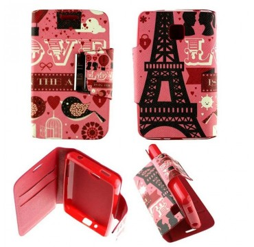 Etui pour LG Optimus L3 II Folio Pink Paris