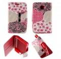 Etui pour LG Optimus L3 II Folio Pink Flowers