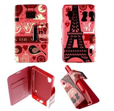 Etui pour LG Optimus L5 II Folio Pink Paris
