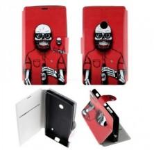 Etui Nokia Lumia 520 Folio Tête de mort barbue