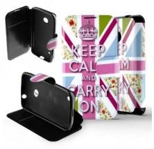 Etui Nokia Lumia 530 Folio Drapeau Anglais