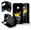 Etui pour Nokia Lumia 530 Folio Tête de mort Roi