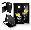 Etui pour Nokia Lumia 730 / 735 Folio Tête de mort Roi
